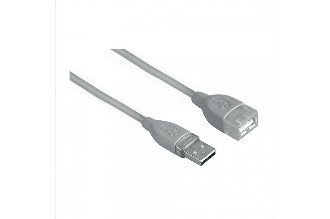 Hama USB kabel typ A-A, prodlužovací, 3m, šedý, blistr