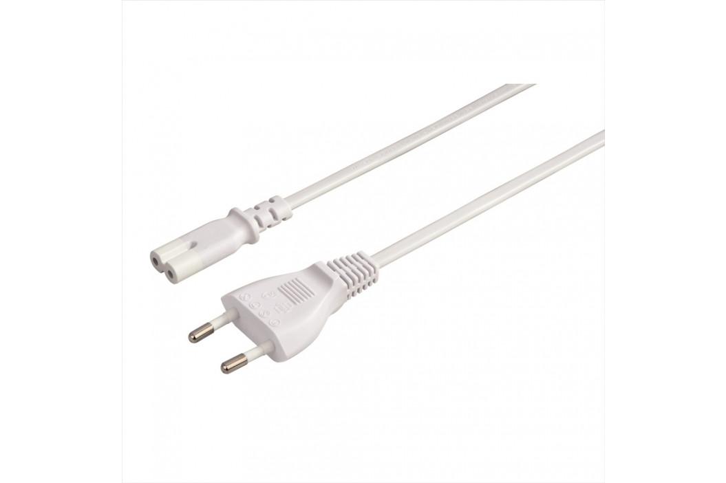 Hama síťový napájecí kabel, 2pólová vidlice, 5 m, bílý