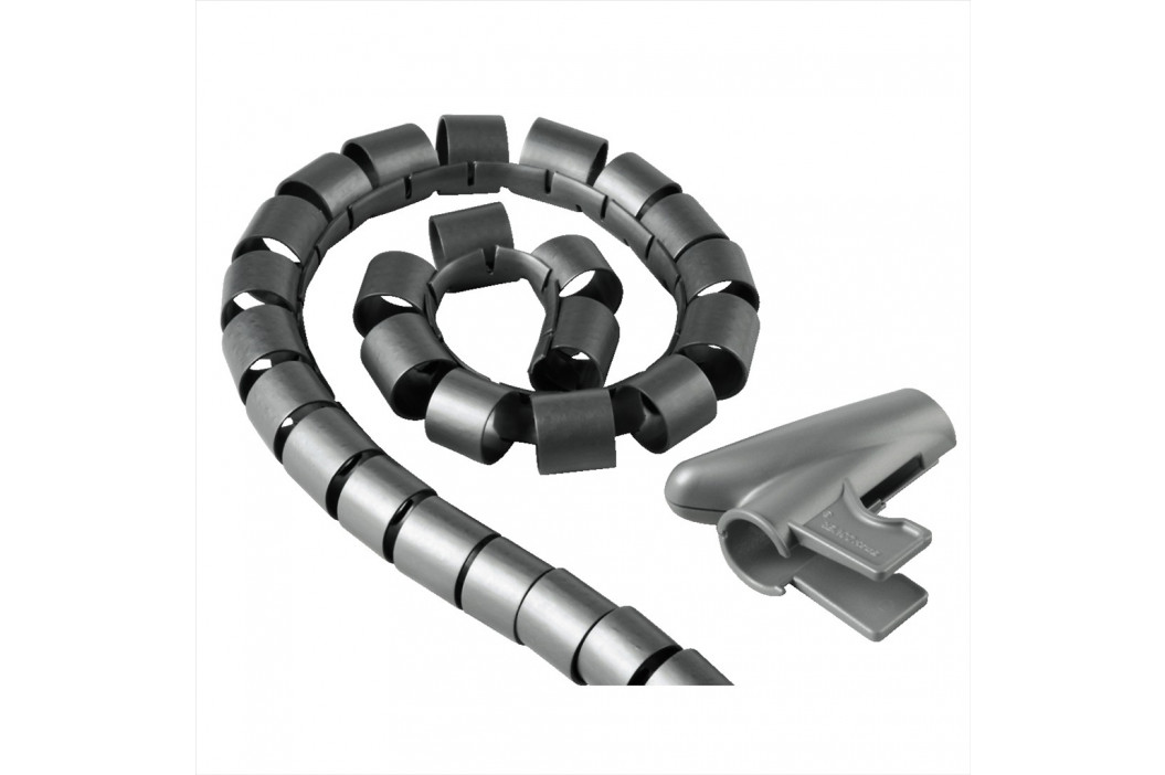 Hama trubice pro vedení kabelů, 1,5 m, 30 mm, stříbrná