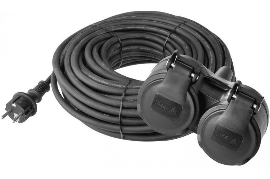 Emos P0601 prodlužovací kabel 10m, 2 zásuvky, černý