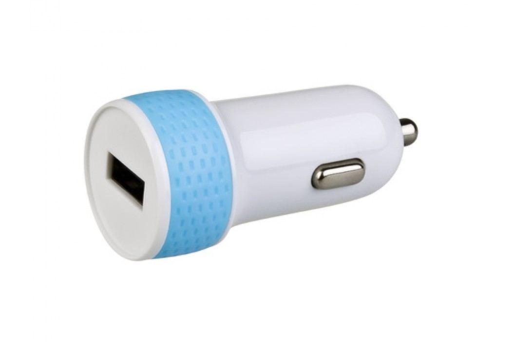 AVACOM nabíječka do auta s výstupem USB 5V/1A, bílo-modrá barva - AVACOM NACL-1XWB-10A
