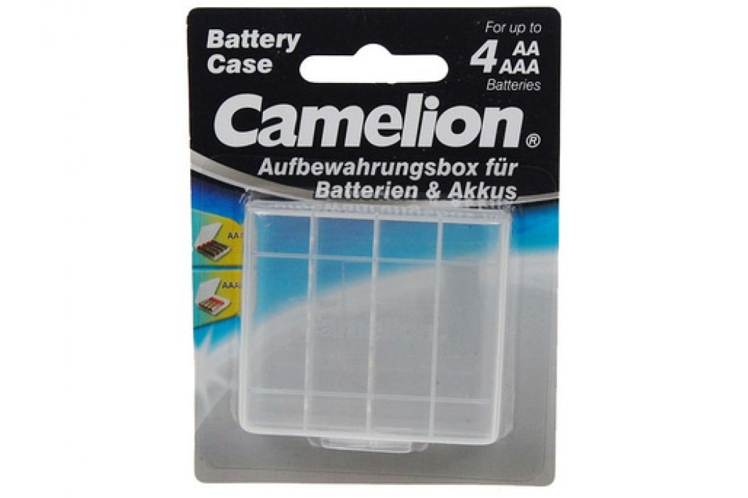 Camelion transparentní pouzdro pro 4x AA/AAA baterie