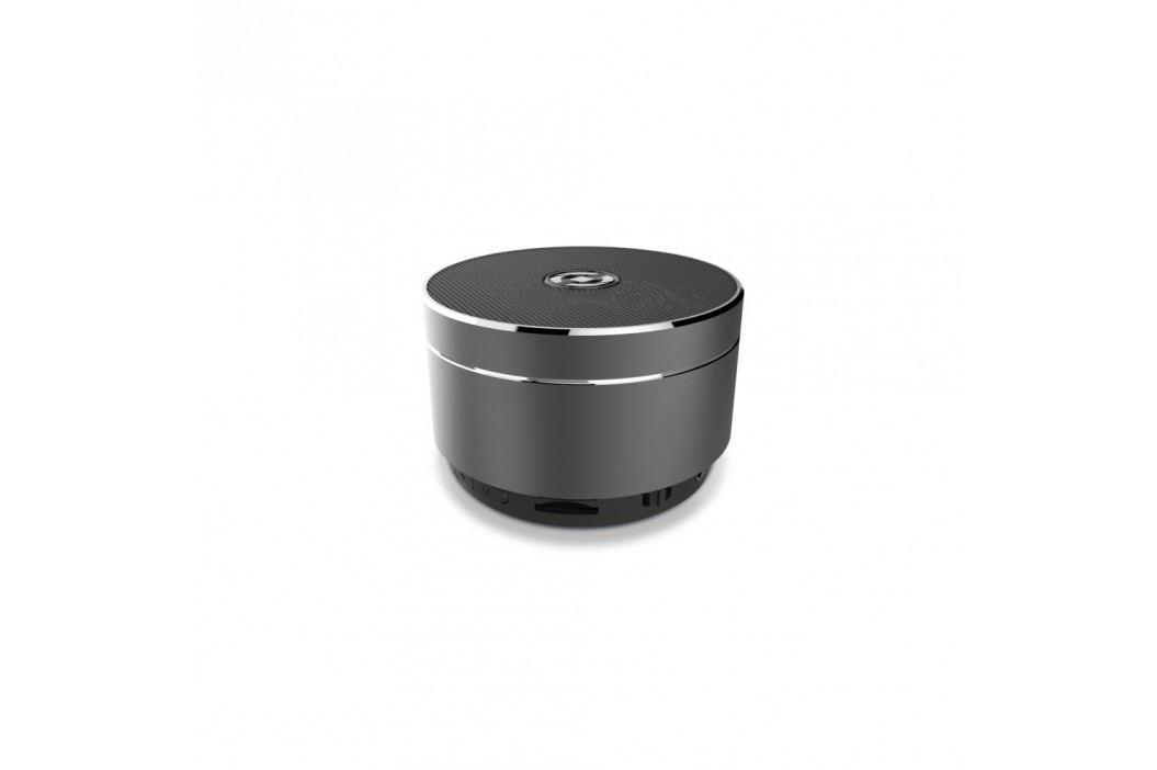 Bluetooth reproduktor CELLY Speaker, hliníková konstrukce, černo-stříbrná
