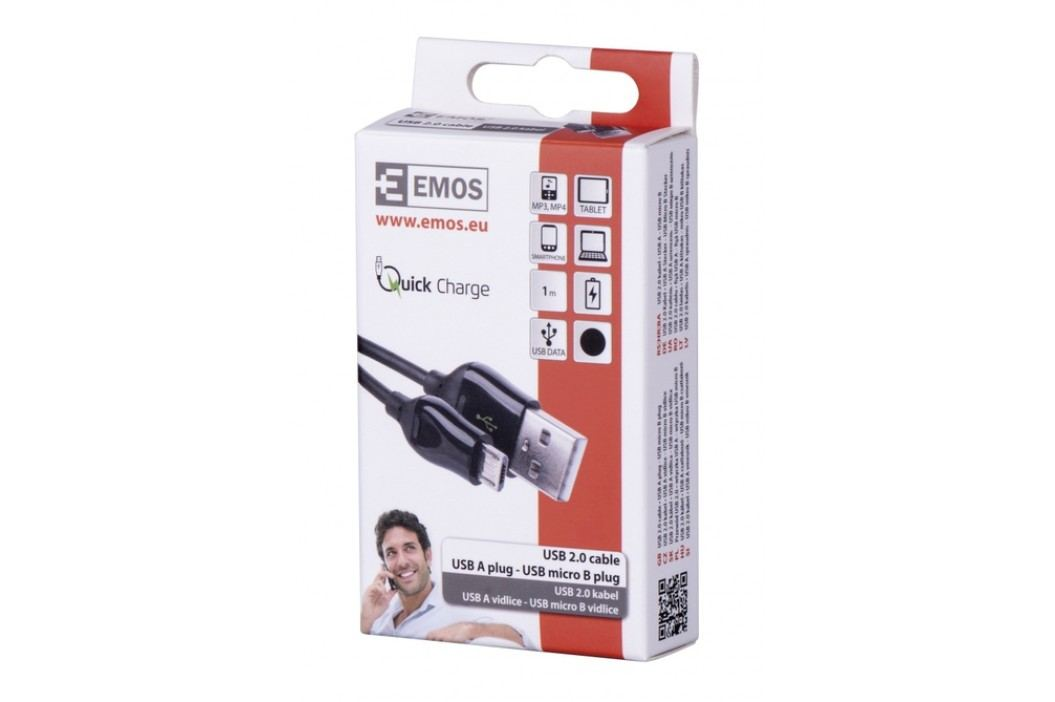 Emos SM7004B USB 2.0A/M-micro B/M 1M B