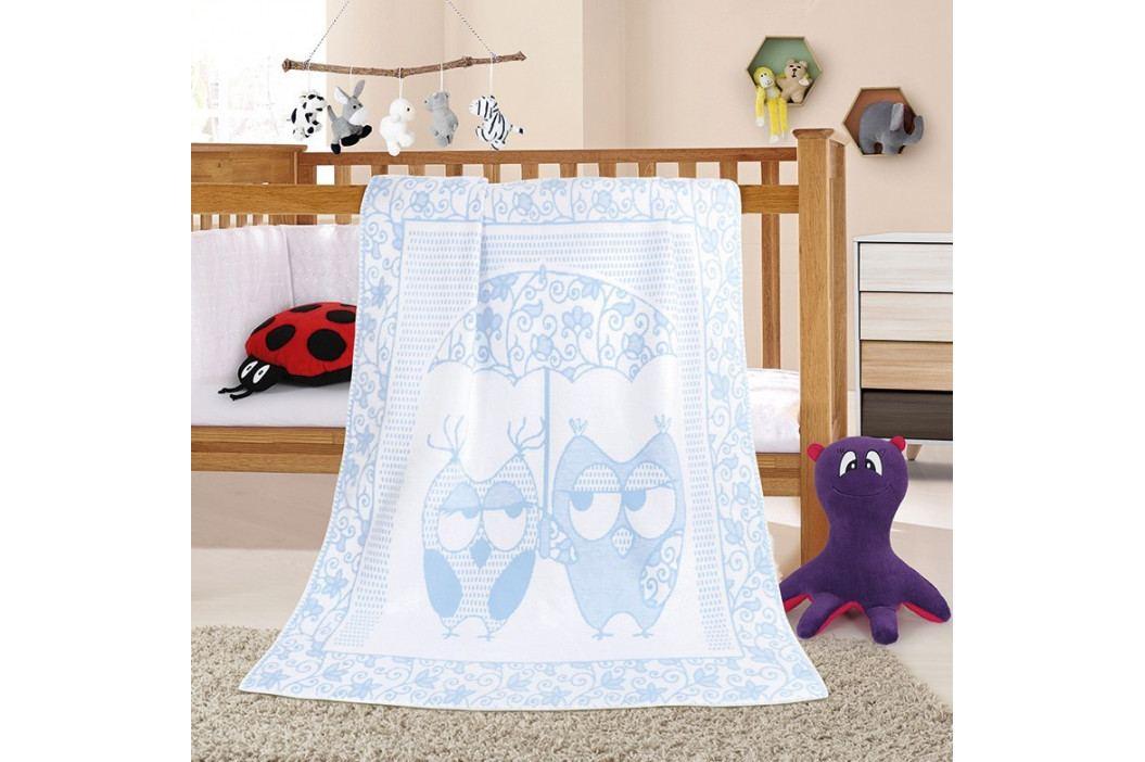 Bellatex Dětská deka Nela Sova modrá, 100 x 140 cm