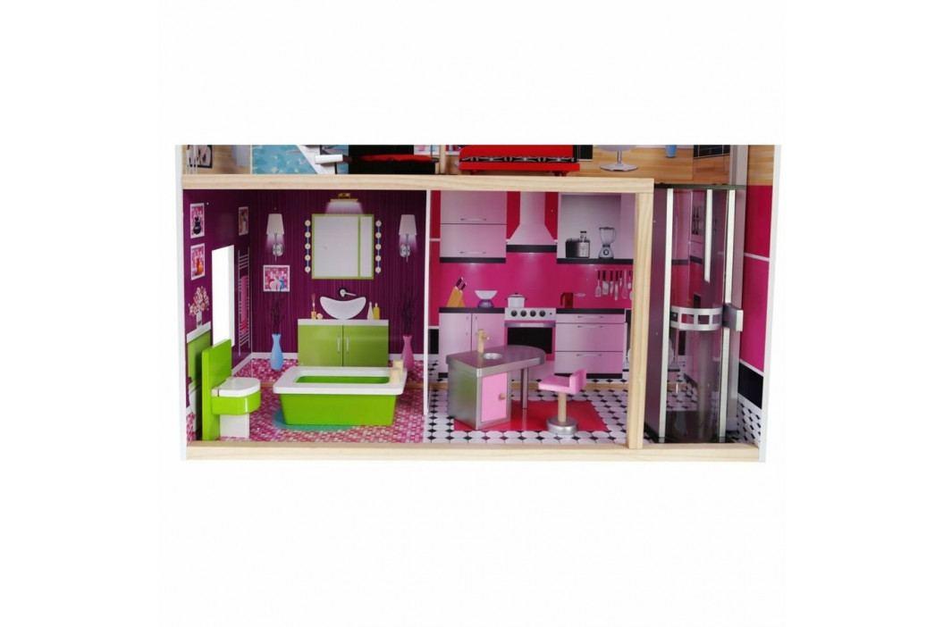 Ecotoys Domeček pro panenky Malibu s vybavením