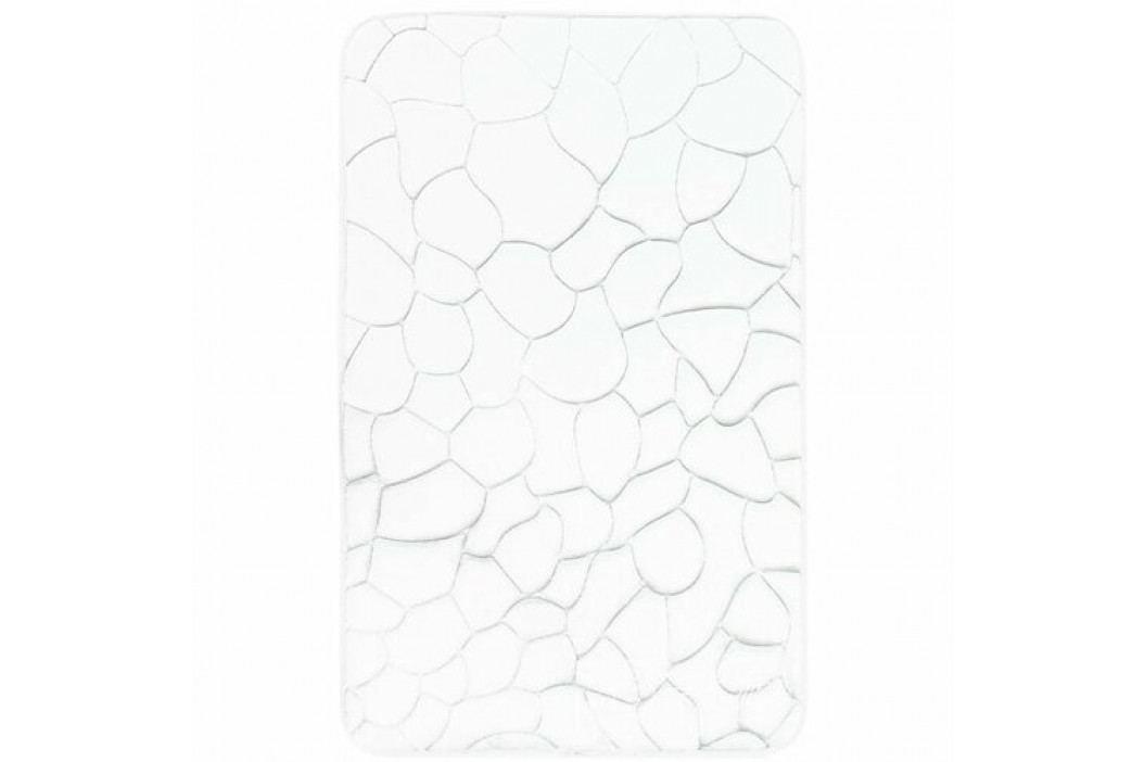VOPI Koupelnová předložka s paměťovou pěnou Kameny bílá, 50 x 80 cm