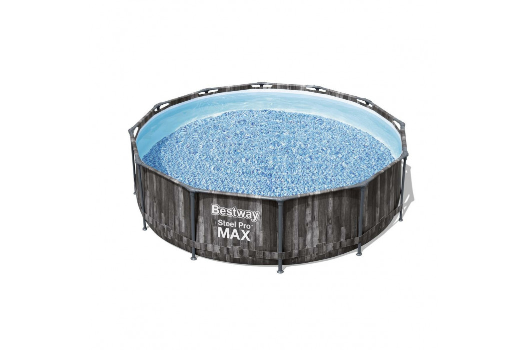 Bestway Nadzemní bazén Steel Pro MAX s filtrací a schůdky, pr. 366 cm, v. 100 cm