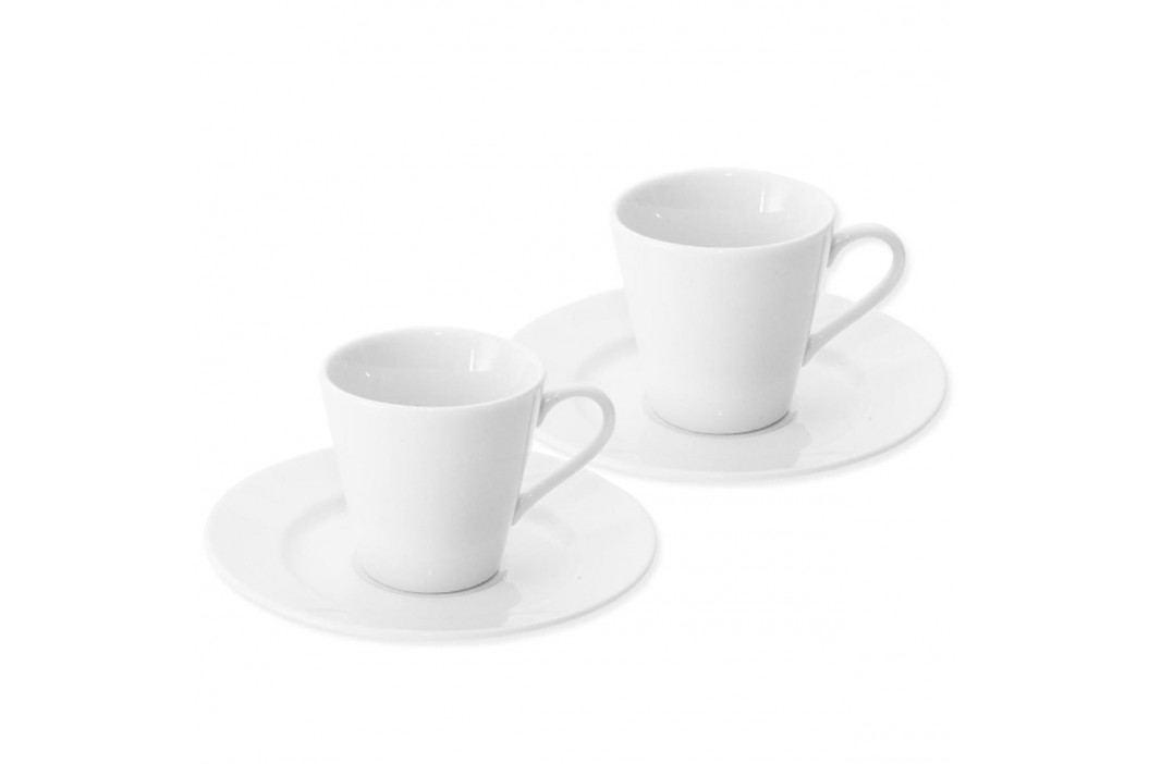 Orion Porcelánový šálek s podšálkem Espresso, 90 ml, 2ks