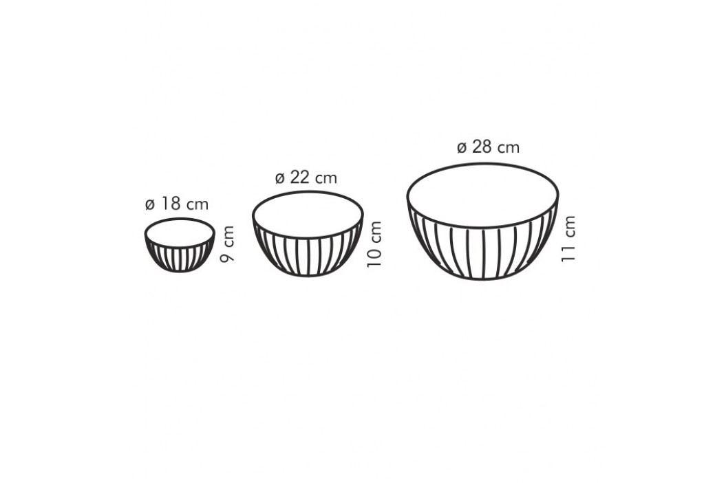 Tescoma DELÍCIA Plastové mísy 3 ks