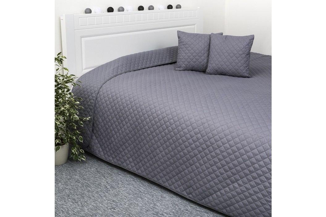 Přehoz na postel Orient šedá, 220 x 240 cm, 40 x 40 cm