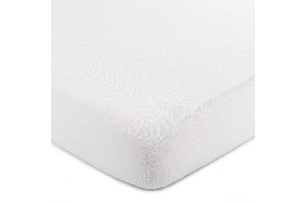 jersey prostěradlo bílá, 220 x 200 cm