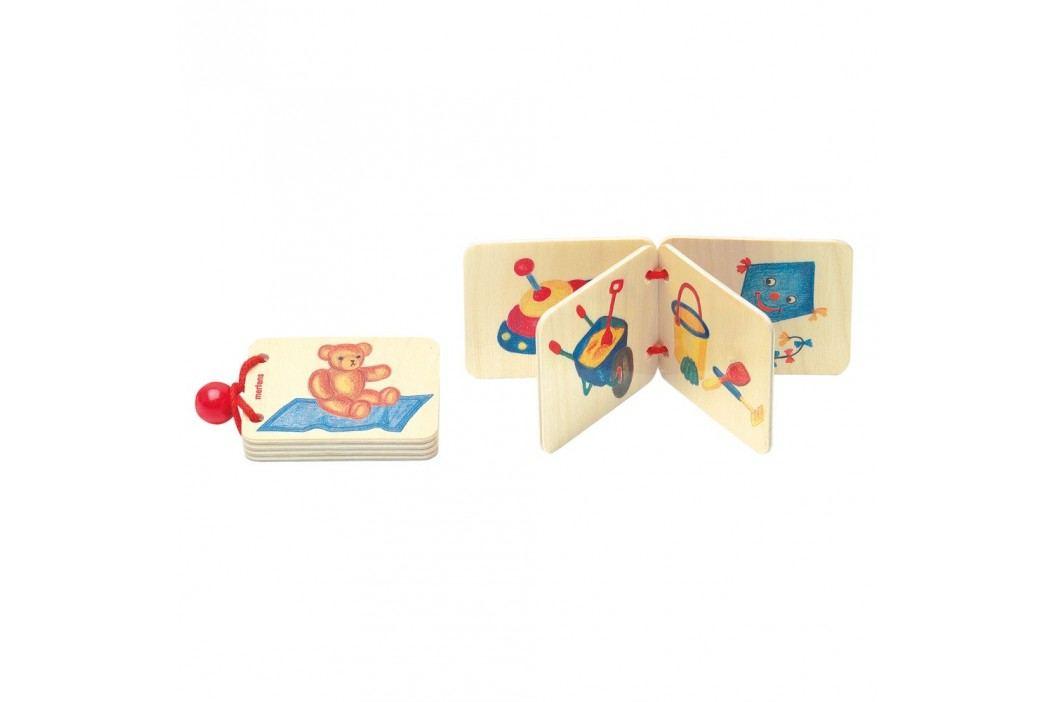 Bino Dřevěná knížka - hračky