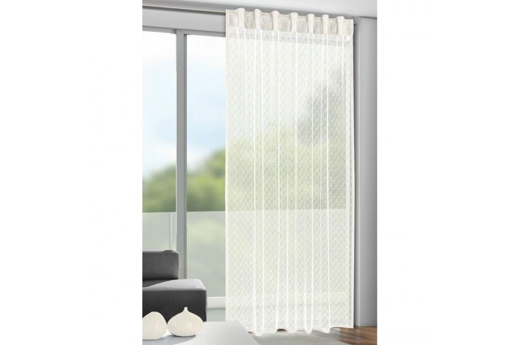 Záclona s poutky Calli béžová, 140 x 245 cm, 140 x 245 cm