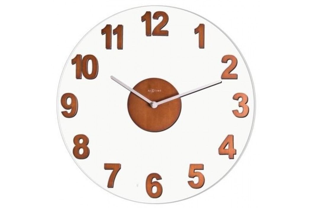 Nextime Woody Brown 2974br nástěnné hodiny