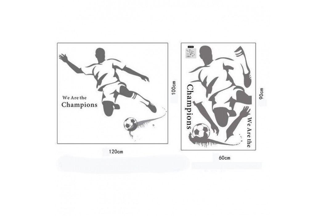 Samolepicí dekorace Fotbalista šedý