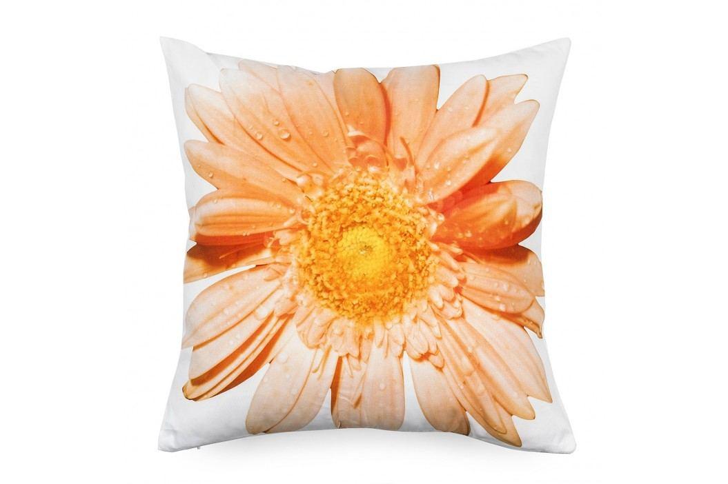 BO-MA Trading Povlak na polštářek oranžový květ, 45 x 45 cm