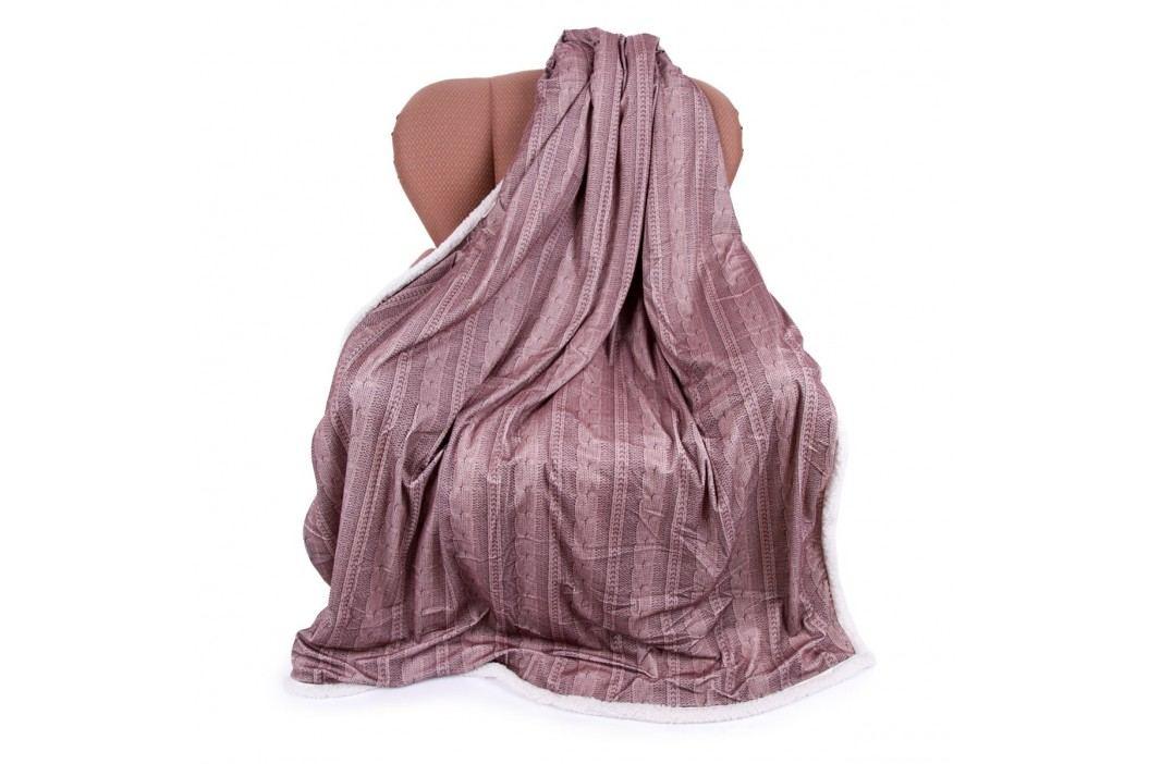 Jahu Beránková deka Agnello starorůžová, 150 x 200 cm