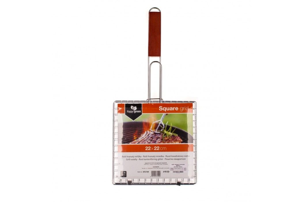 Rošt grilovací hranatý BBQ 22 x 22 cm