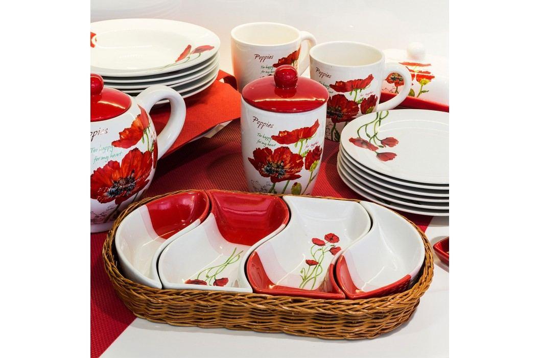 BANQUET Red Poppy 18dílná talířová sada