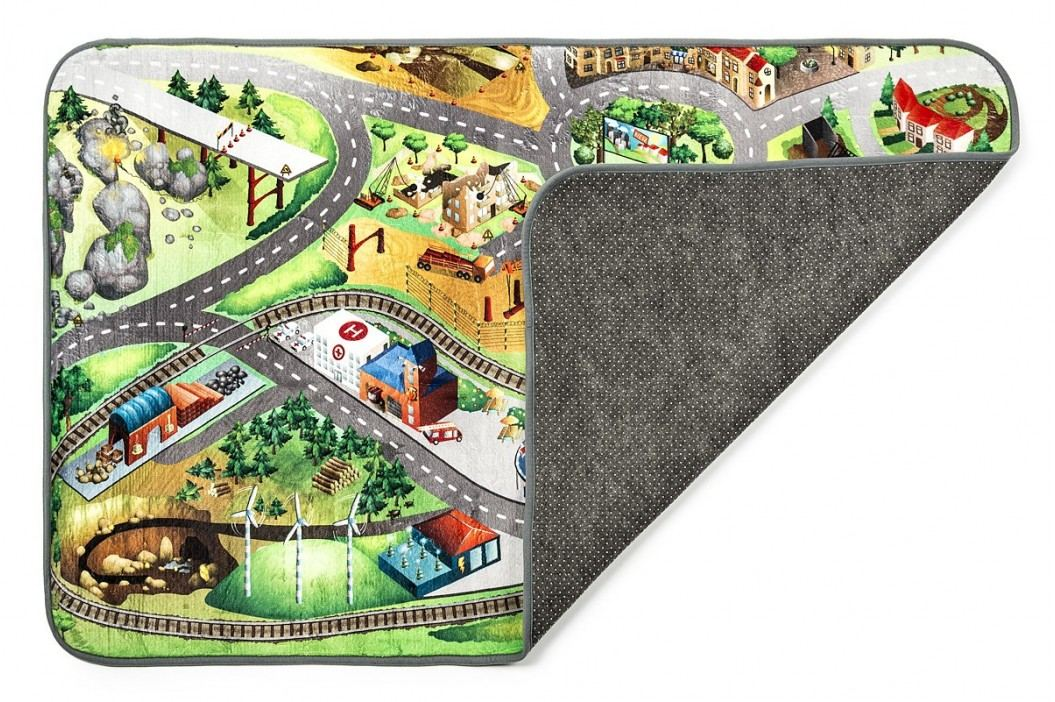 Vopi Dětský koberec Ultra Soft Stavba, 95 x 145 cm obrázek inspirace
