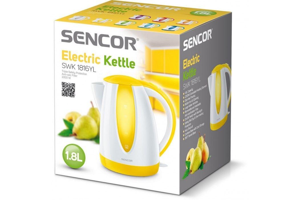 Sencor SWK 1816YL rychlovarná konvice žlutá