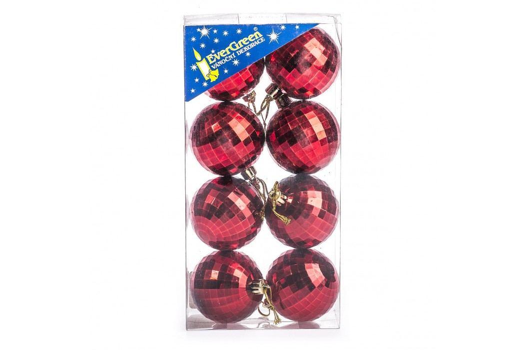 HTH Vánoční koule 8 ks červená