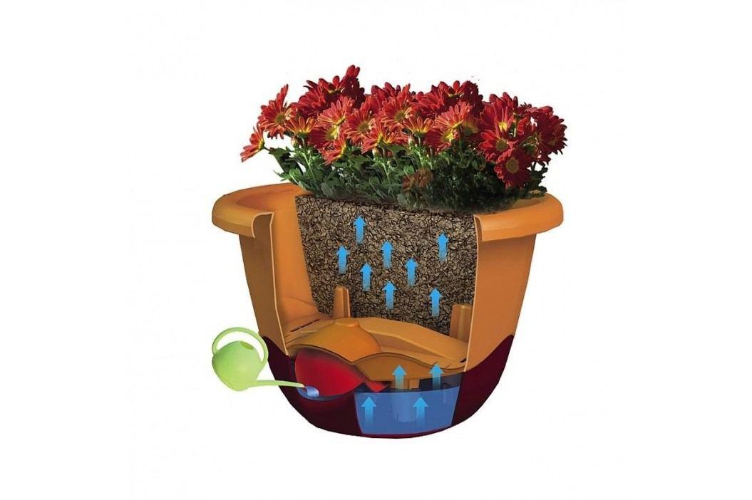 Samozavlažovací květináč Mareta 30 hnědá, závěsný, závěsný, Plastia, pr. 30 cm