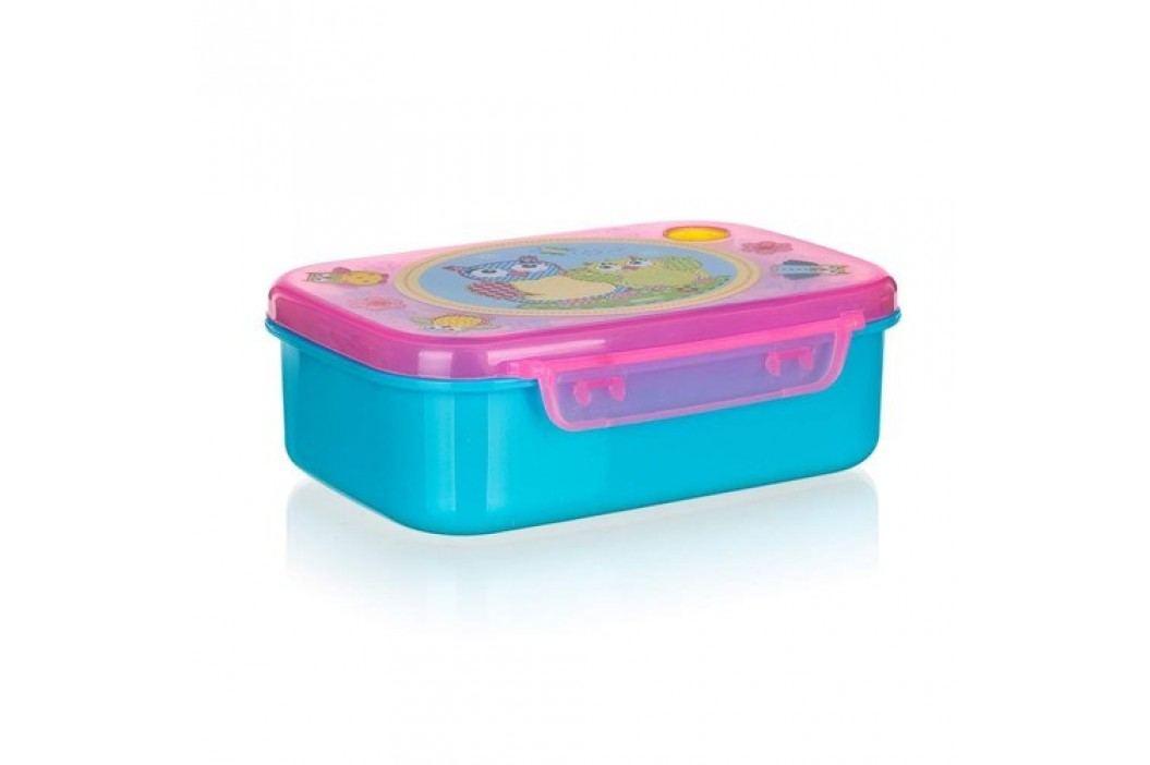Svačinový box Sovičky, modrá