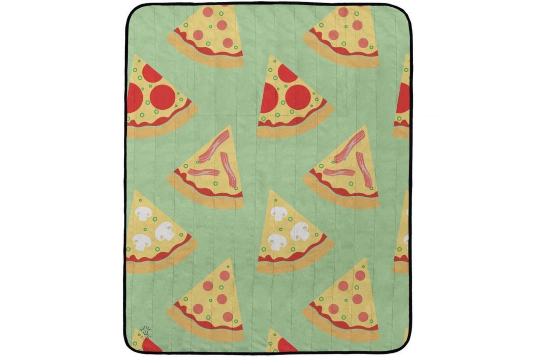 Butter Kings Kempingová deka Tasty pizza, 145 x 180 cm
