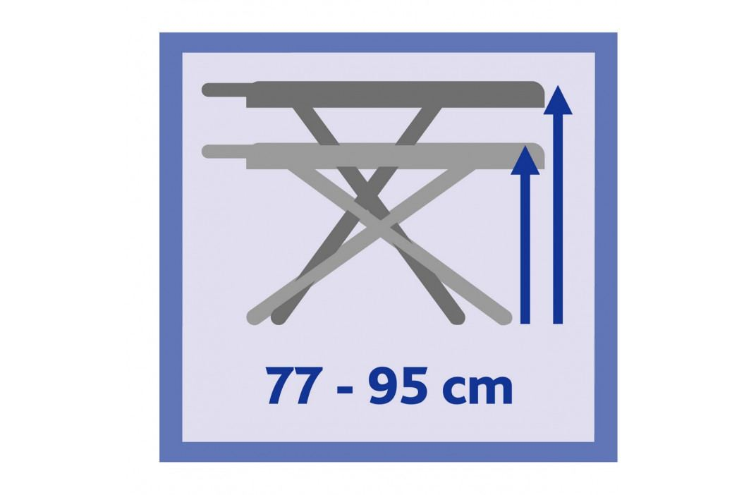 Vileda Perfect 2v1 Plus žehlicí prkno 122x44cm zelené