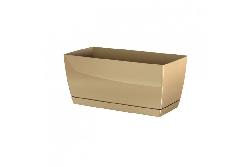 Prosperplast Plastový truhlík Coubi Case s miskou kávová, 24 cm