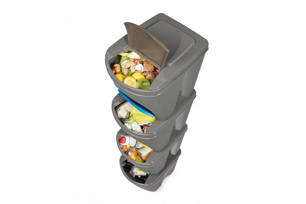 Koš na tříděný odpad Sortibox 25 l, 4 ks, bílá IKWB20S4 S449