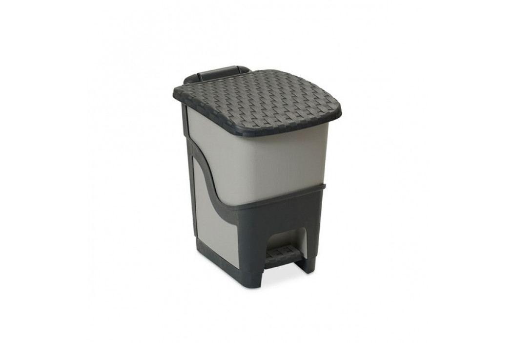 Ratanový odpadkový koš 18 l, antracit
