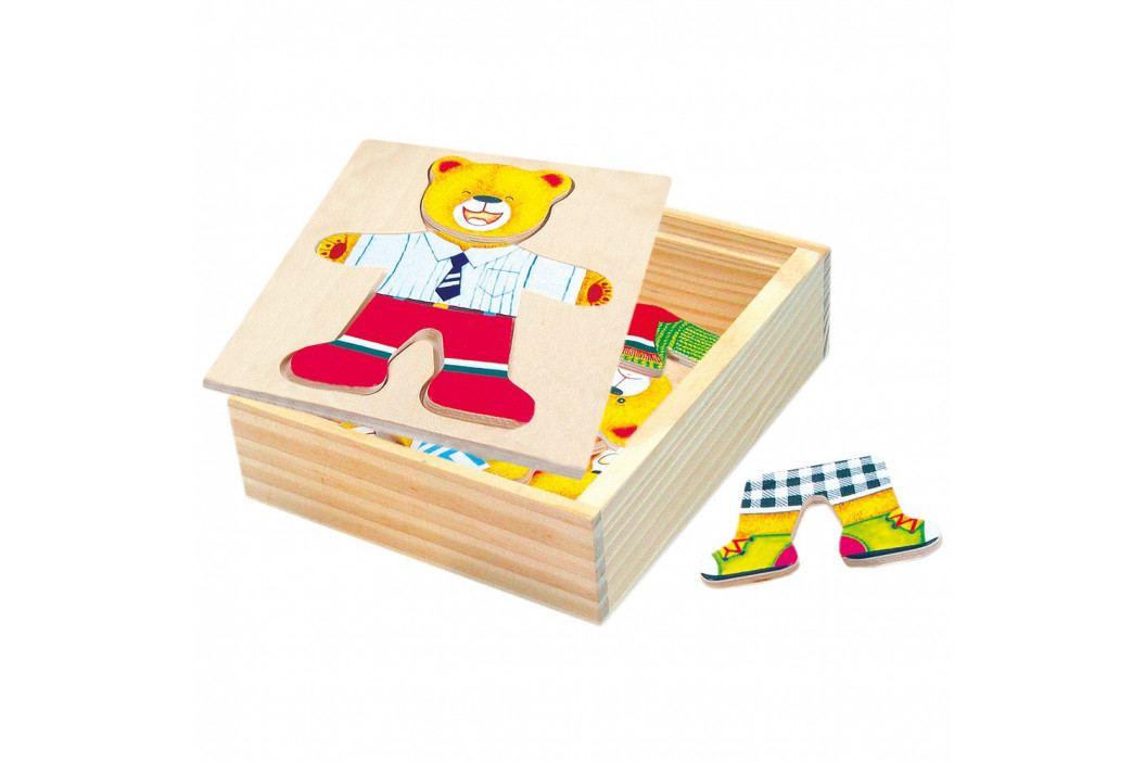 Bino Puzzle-šatní skříň-medvídek