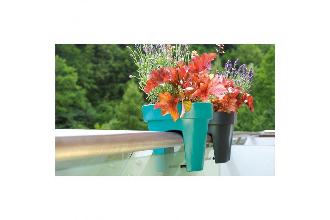 Prosperplast Květináč na zábradlí Lofly Railing terakota, 24,5 cm, 24,5 cm