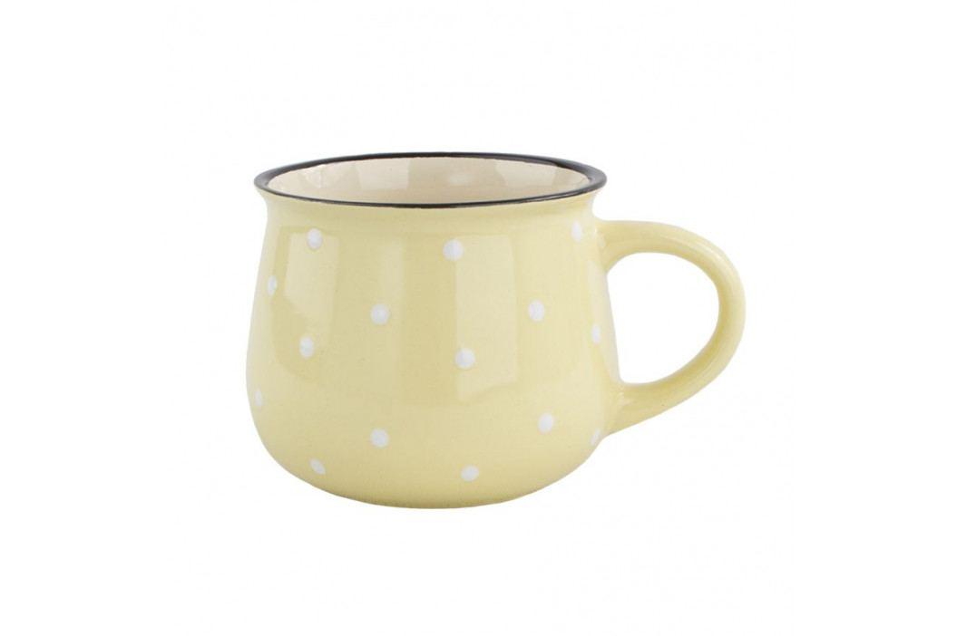 Keramický hrnek Dots 770 ml, žlutá