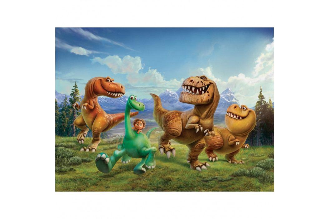 AG Art Dětská fototapeta XXL Hodný dinosaurus, 360 x 270 cm, 4 díly