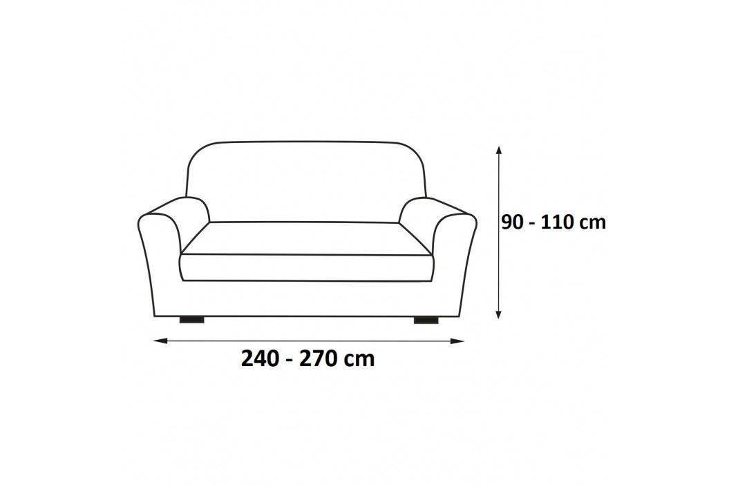 Forbyt Multielastický potah na sedací soupravu Petra modrá, 240 - 270 cm