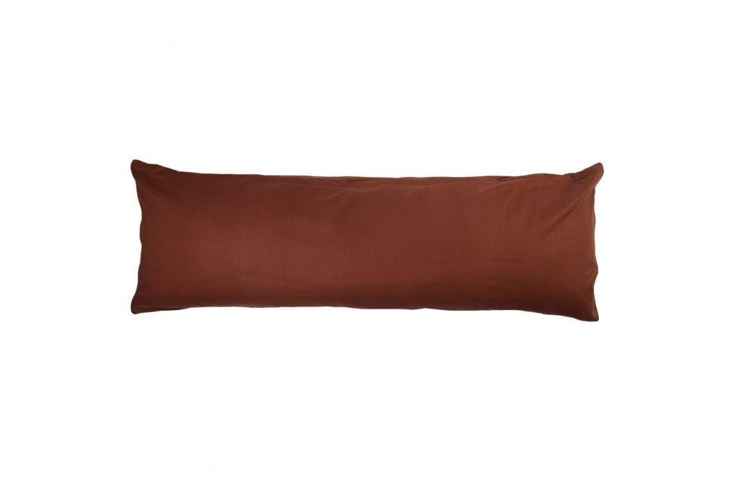 4Home povlak na Relaxační polštář Náhradní manžel tmavě hnědá, 50 x 150 cm