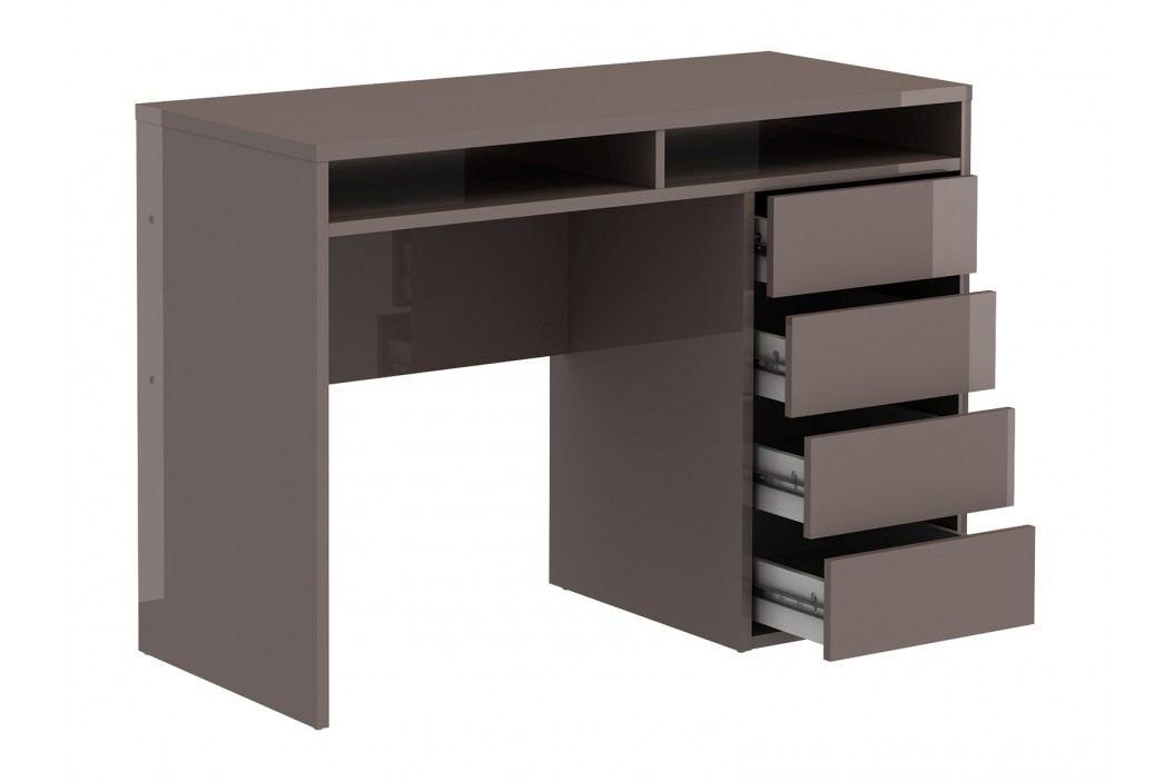 PC stolek - Famm - 80157 (lesk hnědý)