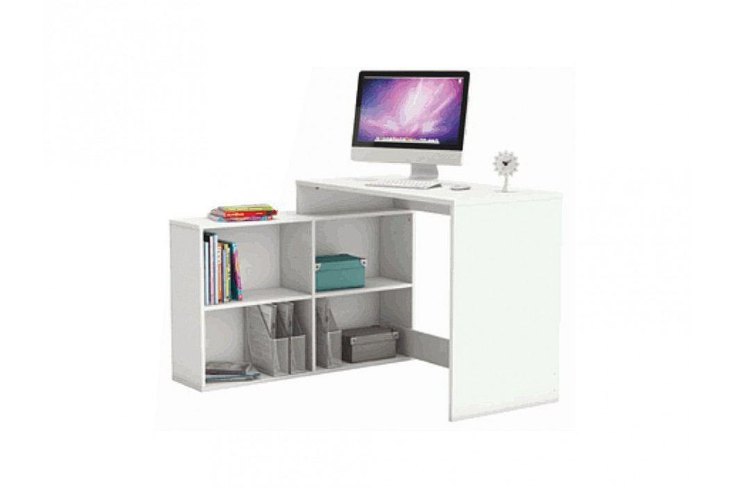 Rohový PC stolek - Korner bílá