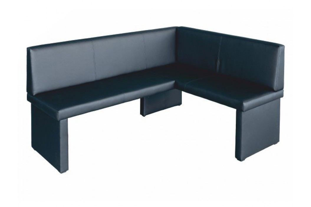 Rohová lavice - Modern černá (P)