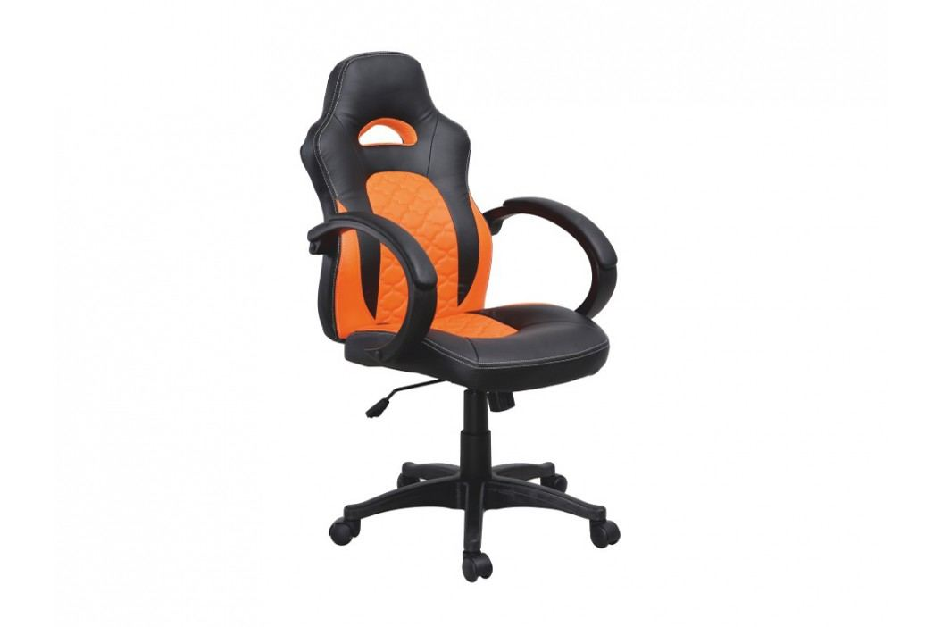 Kancelářské křeslo - Nelson (černá + oranžová)