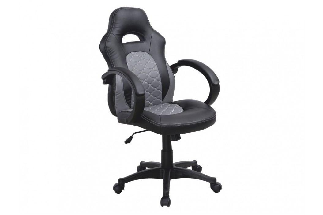 Kancelářské křeslo - Nelson (černá + šedá)