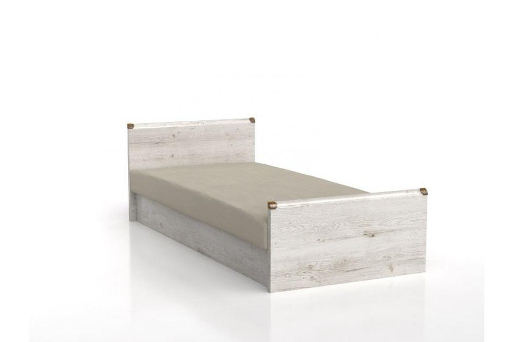 Jednolůžková postel 90 cm - BRW - INDIANA - JLOZ 90 (Borovice Canyon)