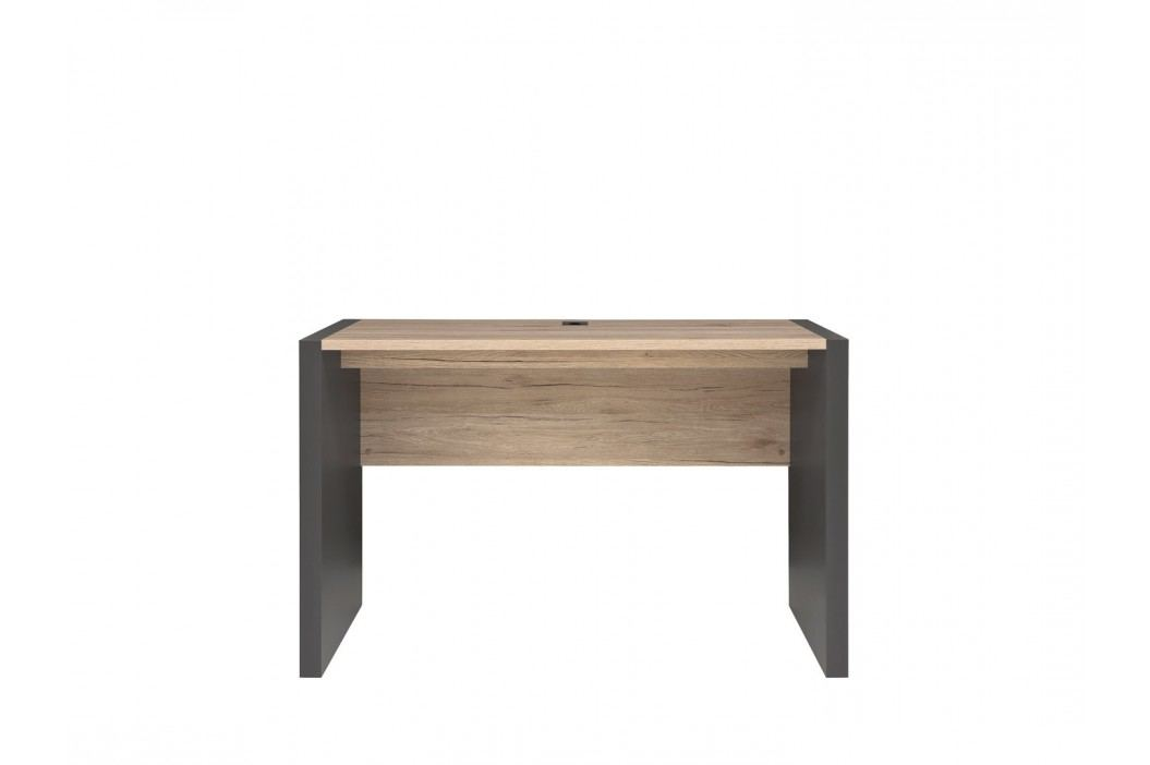 PC stolek - BRW - Executive - BIU/120 (Sivý wolfram + Dub san remo svetlý)