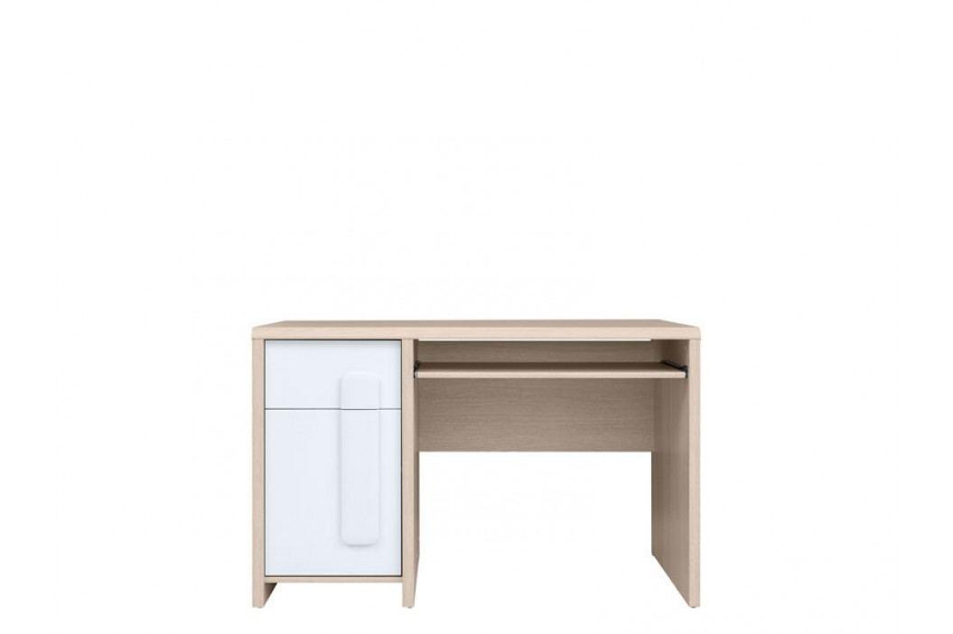 PC stolek - BRW - Colorado - BIU/120 (dub světlý belluno + bílá + bílá matná)