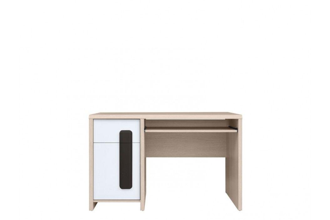 PC stolek - BRW - Colorado - BIU/120 (dub světlý belluno + bílá + wolfram)