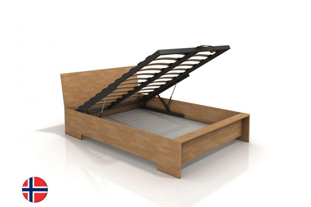 Manželská postel 180 cm - Naturlig - Lekanger High BC (buk) (s roštem)